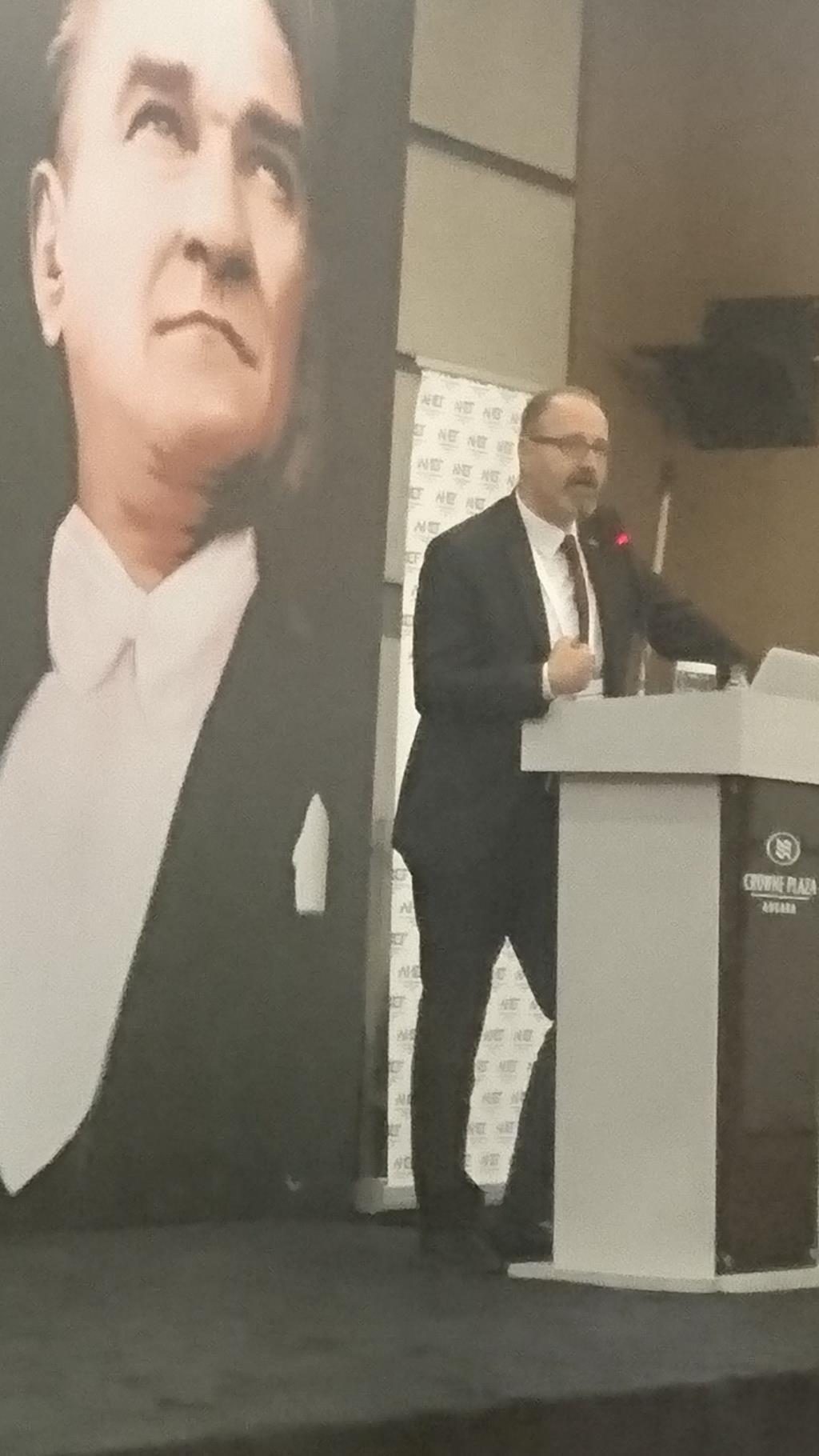 AHEF 5. SEÇİMLİ OLAĞAN GENEL KURULU, AHEF Başkanı Dr. Erkut COŞKUN
