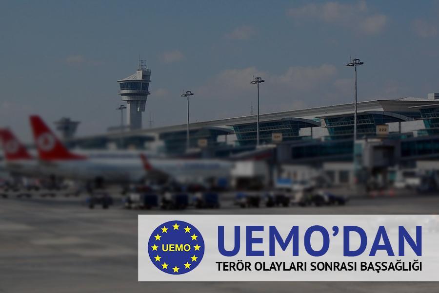 UEMO'dan Terör Saldırısı Sonrası Başsağlığı Mektubu