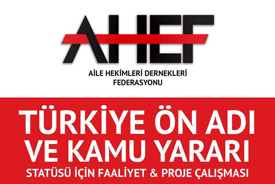 AHEF Türkiye Ön Adı Başvurusu Hk.