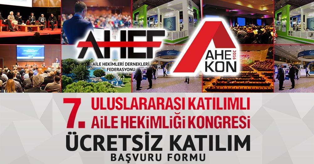AHEKON 2016 Ücretsiz Katılım Başvuruları Başladı