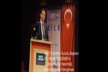 AHEF başkanı ankara kongresinde