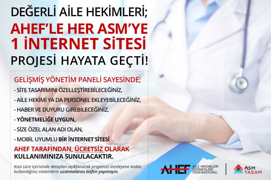 AHEF'ten Her ASM'ye 1 İnternet Sitesi