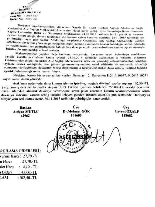 Hukuk Üstün... Güzel Haber Denizli'den GELDİ